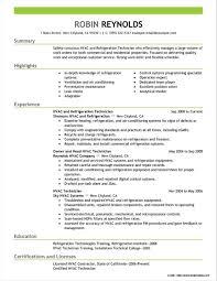 Gallery Of Sample Resume For Hvac Control Technician Resume Hvac