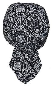 Do Rag Pattern Fascinating Amazon Set Of 48 Lined Black Paisley Food Service Skull Cap Head