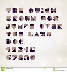 Abstract Geometric Font Stock Illustration Illustration Of