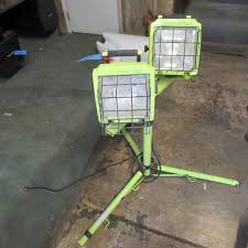 Commercial Electric Work Light Custom Commercial Electric Portable Work Light Stand And Two Lights