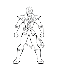 Green Power Ranger Coloring Page Color Bros