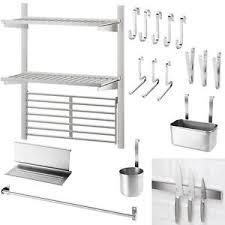 Ikea Kungsfors Stainless Steel Kitchen Range Pot Hanging Rail Pan