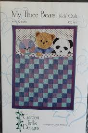 Small Picture My Three Bears Kids Quilt Pattern KQ 301 by Garden Trellis