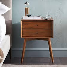 nightstands century bedside table acorn west elm nightstand with basket drawers grey inch tall white contemporary