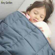 com amy garden 7 layers boys girls 100 cotton preminum weighted blanket 36x48 inch 5 lbs for 40 70 lbs individual grey 2 0 kids heavy