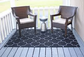 two hours of work and about 25 in supplies gave me the look i wanted for an outdoor rug without breaking the bank