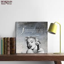 Marilyn Monroe Living Room Decor Marilyn Monroe Wall Art Quotes Promotion Shop For Promotional