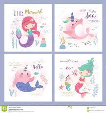 Design Life Kids Kids Under The Sea Theme Greeting Card Design Stock Vector