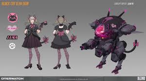 Dva Concept Design Black Cat D Va Skin Concept By Lliacat Art 2d Cgsociety