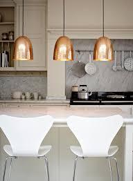 copper hammered trio pendant lights