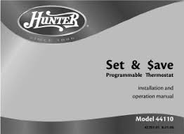 hunter model 44110 related keywords suggestions hunter model hunter installation and operation manual programmable thermostat 44110