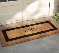 front door mats outdoorMonogrammed Doormat  Pottery Barn