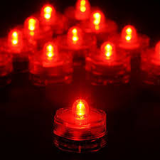 Battery Operated Red Led Lights 12 Pack Red Waterproof Battery Operated Submersible Led