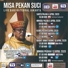 Perayaan misa paskah di komsos keuskupan surabaya akan dipimpin oleh mgr. Jadwal Live Streaming Misa Pekan Suci 2020 Keuskupan Agung Semarang