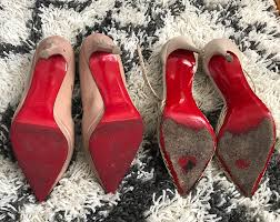 before and after louboutin pumps red bottom sole repair brooklyn blonde