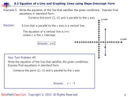 contains the point 3 2 and is parallel to the y axis