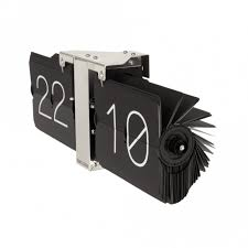 no case flip clock black