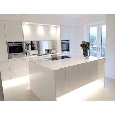 Modern White Kitchen Cabinets Modern Closed Kitchen With White