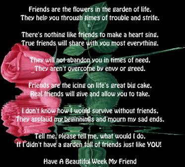 sad friendship poems best friends