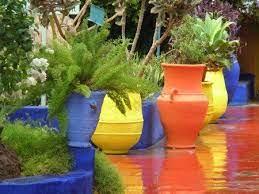 majorelle gardens garden plant pots