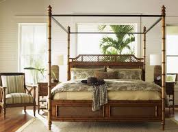 Bedroom With Bamboo Furniture Including Canopy Bed - Environment ...