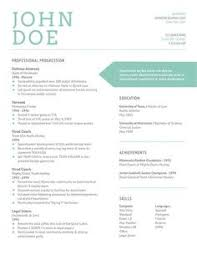 Resume design: This design is very clear and uses calm colors. The arrow is  a focal point so it is remembered.