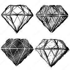 алмаз эскиз рука нарисованные алмаз символ векторное изображение