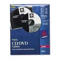 Avery Dvd Label Template Word Amazon Com Avery White Cd Labels For Laser Printers 40 Disc