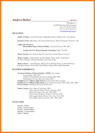 Resume Examples Music Resume Example Resume Example Essay