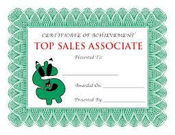 Top Sales Associate Award Certificate Free Pdf Certificates