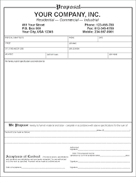 Contract Bid Proposal Contractor Bid Proposal Template Form Glotro Co