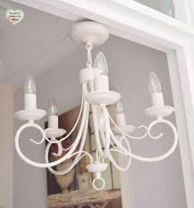 shabby chic lighting. 5 arm ceiling light chandelier metal hand painted shabby chic lighting e