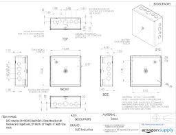 sheet metal tool box plans. bud industries jbh-4960-ko steel nema 1 sheet metal box with knockout and tool plans r