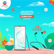 Điện Máy Thiên Hòa - 👉Điện Thoại Di Động Samsung Note 10 LITE  SM-N770FZSUXXV giá chỉ còn 9.990.000 đồng (giá gốc 13.990.000 đồng) + Tặng Tai  nghe bluetooth Samsung ITFIT A08C (GP-OAU019SABBW) -