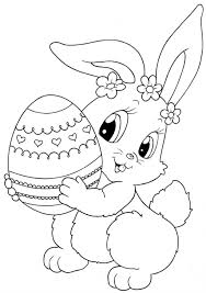 Happy Easter Coloring Pages For Kids Clipart Egg Printable Drawings