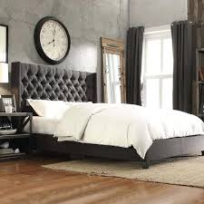 Grey Tufted Bed Grey Tufted Headboard King Best Grey Upholstered Bed ...