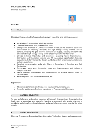 Sample Resume For Professional Engineer Resume Cover Letter Template