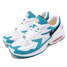 Air Max One Light Blue Nike Air Max 2 Light Blue Lagoon Laser Orange White Men Running Shoes Ao1741 100