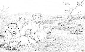Small Picture Lion Pride and Hyenas coloring page Free Printable Coloring Pages