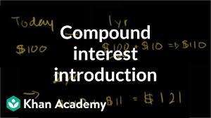 Compound Interest Chart Pdf Compound Interest Introduction Video Khan Academy