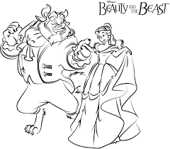 Ballroom Dance Beauty And The Beast Coloring Pages Disney Movies