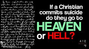 Teen suicide and christian beliefs