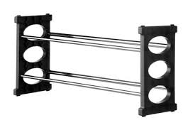 home and office storage. Premier 2 Tier Shoe Rack Black/Chrome-1900280 Home And Office Storage F