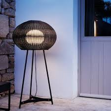 modern outdoor lighting from bover floor lights inspired by mediterranean sea urchins the tripod style of
