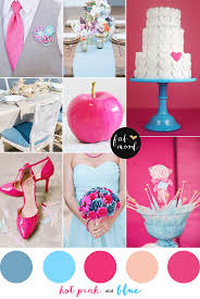 blue and hot pink wedding colors palette,hot pink and light blue wedding  inspirations,