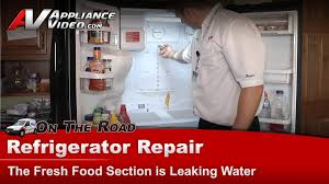 samsung refrigerator diagnostic repair fresh food section is leaking water you