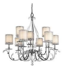 kichler 42304ch jardine 9 light 39 inch chrome chandelier ceiling light photo