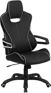 white vinyl office chair. flash furniture high back black vinyl executive swivel office chair with white trim n