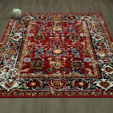 cit3360 city antique faded persian mahal red area rug 5x7