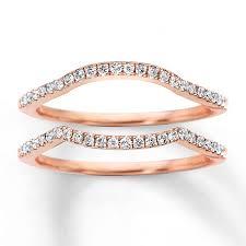 Kay Diamond Wedding Bands 1 4 Ct Tw Round Cut 14k Rose Gold
